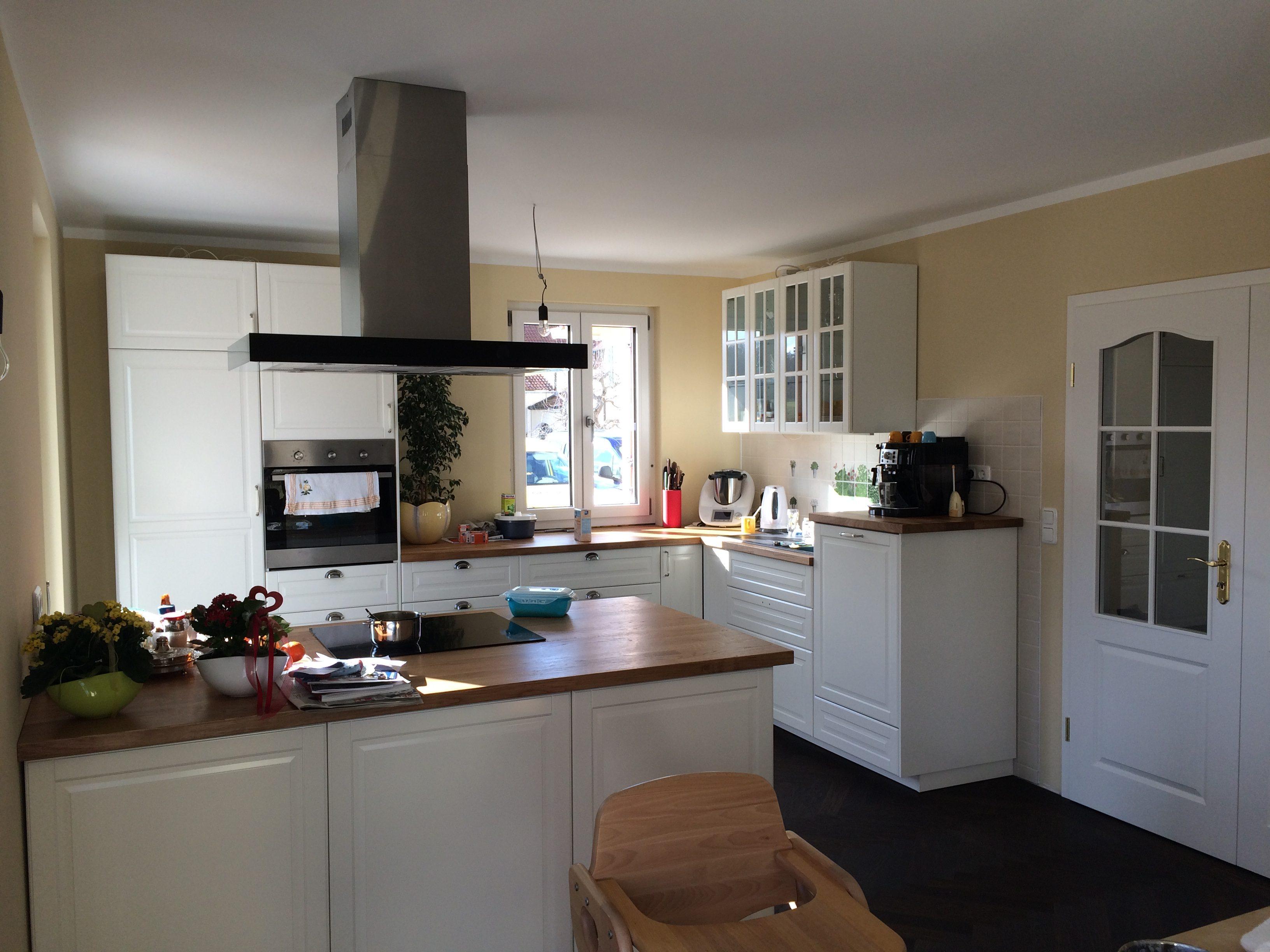 Ikea-Küche in Bodbyn elfenbeinweiß - Unser Holzhaus